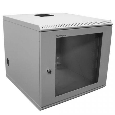 StarTech.com Rack de 10U y 19 pulgadas de montaje en pared - Gabinete para servidores