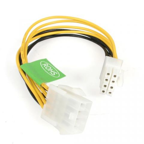 Accesorio StarTech.com Cable de Extensión de 20cm de 8 Pines EPS de Alimentación para Fuente de Poder ATX