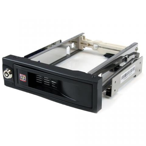 "Gabinete para disco duro StarTech.com Rack Móvil de Aluminio de 5.25"" para un Disco Duro HDD SATA de 3.5 Pulgadas sin Bandeja - Hot Swap"