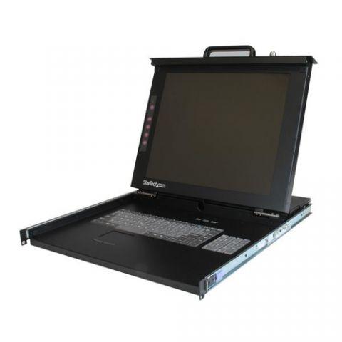 """Centro de dato StarTech.com Consola de 1U y Pantalla de 17"""" con USB y PS/2 para Rack"""