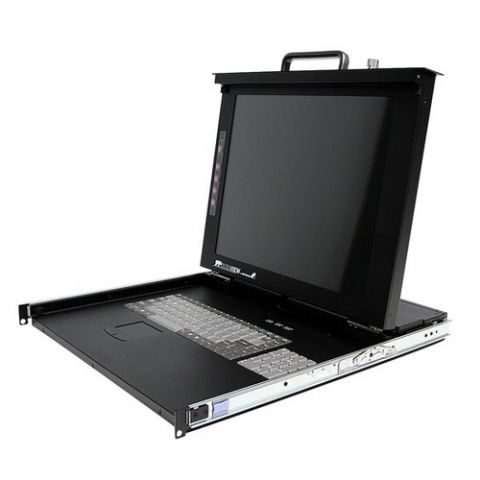 "Centro de dato StarTech.com Consola de 1U y Pantalla de 17"" para Rack con KVM de 8 Puertos"