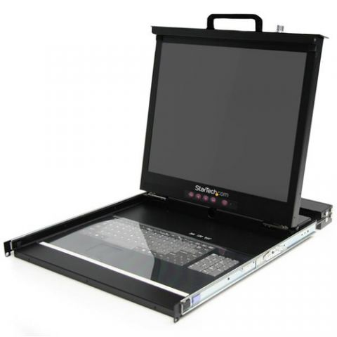 "Centro de dato StarTech.com Consola 1U LCD de 19"" para Rack con KVM multi-plataforma de 16 puertos"