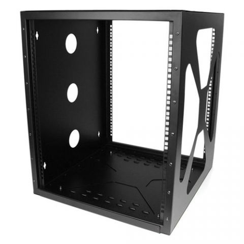 StarTech.com Gabinete Rack de 12U y 19 pulgadas de marco abierto para montaje lateral en pared