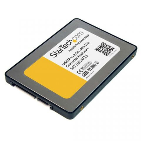 Adaptadores para Disco Duro StarTech.com Caja Adaptadora SATA de 2.5 Pulgadas para Unidad de Estado Sólido SSD mSATA