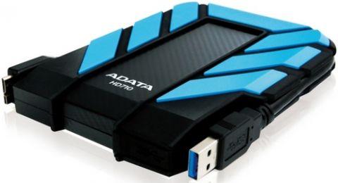 Disco duro externo ADATA 1TB DashDrive Durable HD710 disco duro externo 1000 GB Negro, Azul