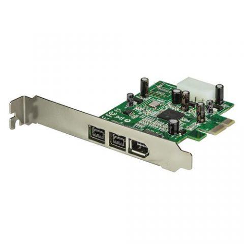 Tarjeta firewire StarTech.com Adaptador Tarjeta FireWire PCI-Express PCI-e de 2 Puertos F/W 800 y 1 Puerto F/W 400