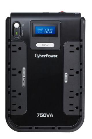 No Break y UPS CyberPower CP750LCD sistema de alimentación ininterrumpida (UPS) En espera (Fuera de línea) 750 VA 420 W 8 salidas AC