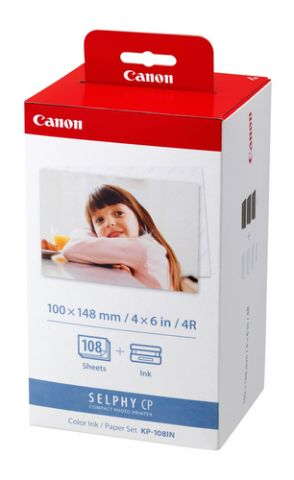 Papelería Canon KP-108IN papel fotográfico Rojo, Blanco
