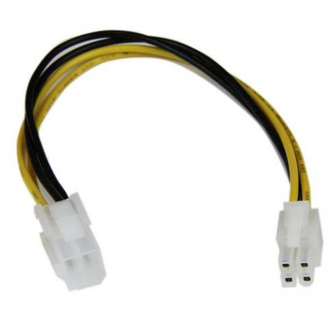 Accesorio StarTech.com Cable 20cm ATX Extensión Macho a Hembra 4 Pines de Placa Madre Corriente Poder Interno P4