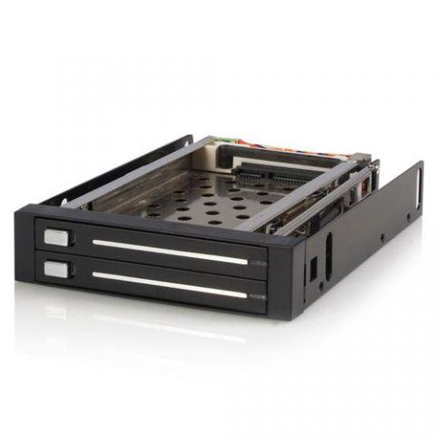 """Gabinete para disco duro StarTech.com Gabinete Rack Móvil Backplane de 2 Discos Duros HDD SATA 2.5"""" Pulgadas sin Bandeja Bahía 3.5"""""""