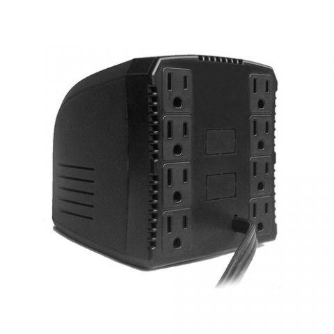 Regulador Complet ERV-6-001 regulador de voltaje 8 salidas AC 120 V Negro