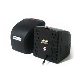 Regulador Complet RPLUS 1300 TV/USB regulador de voltaje 8 salidas AC 100-140 V Negro