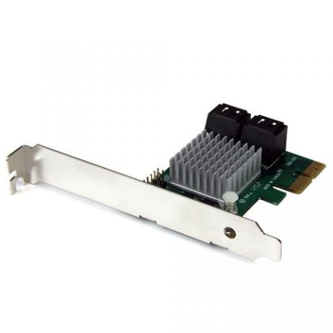 StarTech.com Tarjeta Adaptadora Controladora PCI Express PCI-E SATA 3 III 6Gbps RAID 4 Puertos con HyperDuo