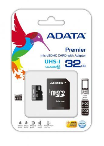 Memoria SD ADATA UHS-I U1 32GB Class 10 - 32 GB, 30 MB/s, 10 MB/s, Negro,  AUSDH32GUICL10-RA1