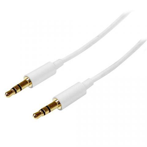 Accesorio StarTech.com Cable de 1 metro Delgado de Audio Estéreo con Plug Mini Jack de 3.5mm - Macho a Macho - Blanco