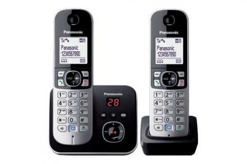 Antena Panasonic KX-TG6822 Teléfono DECT Identificador de llamadas Negro, Plata