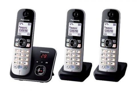 Antena Panasonic KX-TG6823 Teléfono DECT Identificador de llamadas Negro, Plata
