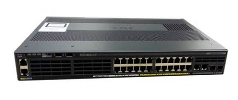 Switch CISCO - Negro, 32 W WS-C2960X-24TS-LL