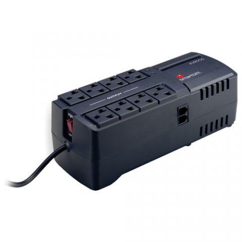 Regulador Smartbitt AVR900 extensión de corriente 8 salidas AC Negro