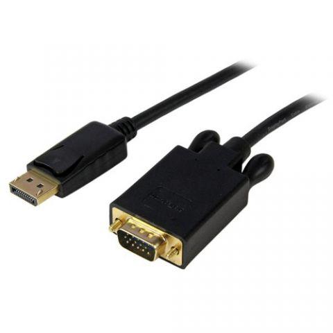 Accesorio StarTech.com Cable 1.8m de Video Adaptador Convertidor DisplayPort DP a VGA - Activo - 1080p - Negro