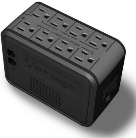 Regulador Vorago AVR-100 sistema de alimentación ininterrumpida (UPS) 1000 VA 8 salidas AC