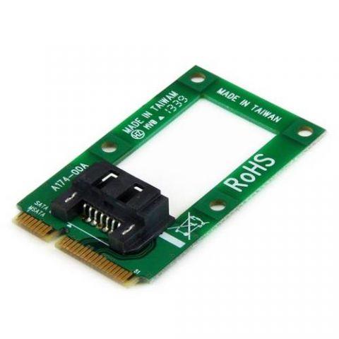 Adaptadores para Disco Duro StarTech.com Adaptador mSATA a SATA para Disco Duro o SSD - Tarjeta Convertidora Mini SATA a SATA