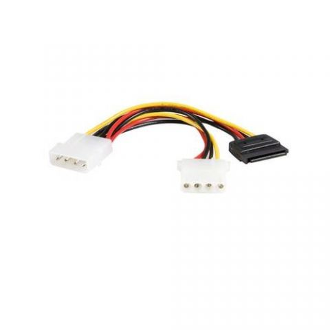 Accesorio StarTech.com Cable en Y de 15cm de Alimentación LP4 a LP4 y SATA