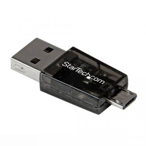 Lector de memoria StarTech.com Lector de Tarjetas Adaptador Micro SD a Micro USB OTG para Dispositivos Android