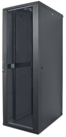 Intellinet 713542 armario rack 26U Rack o bastidor independiente Negro