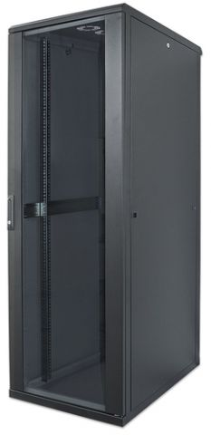 Intellinet 713085 armario rack 22U Rack o bastidor independiente Negro