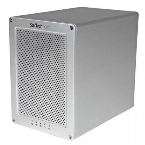 Gabinete para disco duro StarTech.com Gabinete Thunderbolt 2 con 4 Bahías RAID de 3.5 Pulgadas - Carcasa con Ventilador y Cable Incluído