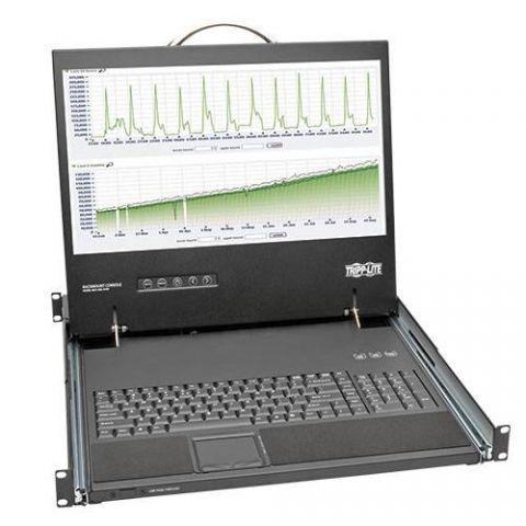"Consola con LCD TRIPP-LITE B021-000-19-SH para Instalación en 1U de Rack de 19"" - LCD, 1366 x 768 Pixeles B021-000-19-SH"