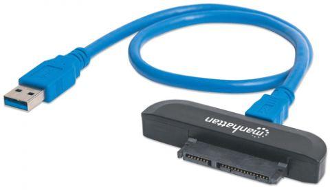 Adaptadores para Disco Duro Manhattan 130424 adaptador de cable USB 3.0 SATA L-type Negro