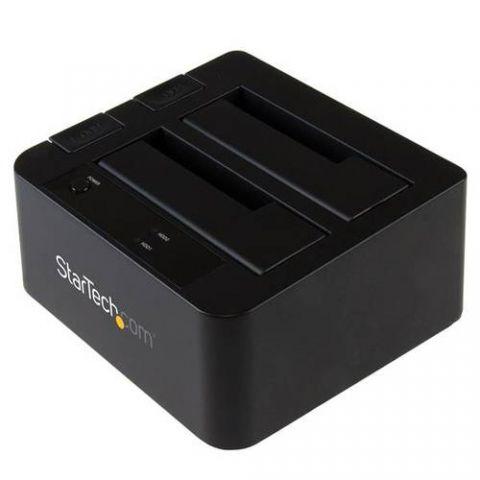 StarTech.com Docking Station USB 3.1 (10Gbps) con UAS de 2 Bahías para Disco Duro o SSD SATA de 2.5 o 3.5 Pulgadas