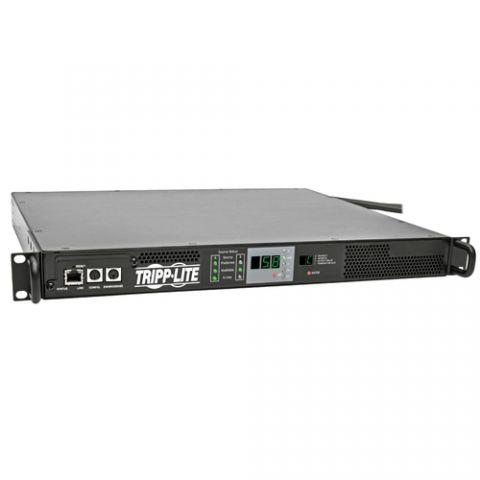 PDU Tripp Lite PDUMNH30HVAT PDU Monofásico Monitoreable con Switch de Transferencia Automática 5.8kW, 2 Entradas L6-30P de 208/240V 30A, 1 Tomacorriente L6-30R, 1U