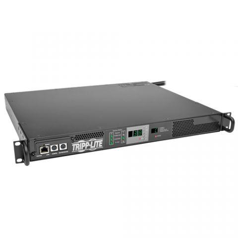 PDU Tripp Lite PDUMNH20HVAT PDU Monofásico Monitoreable con Switch de Transferencia Automática 3.8kW, 2 Entradas L6-20P de 20A 208/240V, 1 Tomacorriente L6-20R, 1U