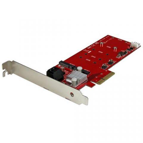 StarTech.com Tarjeta PCI Express Controladora de 2x SSD NGFF M.2 y 2x Puertos SATA III