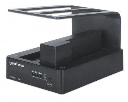 Adaptadores para Disco Duro Manhattan 130479 base de conexión para disco duro Negro
