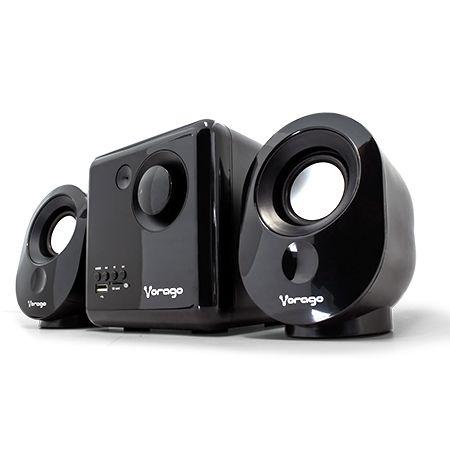 Bocina VORAGO - 2.1, 7 W, Negro, Alámbrico Spk-200
