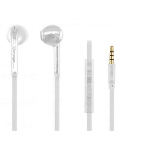 Accesorios para Electronica Vorago EP-201 Auriculares Intra auditivo Conector de 3.5 mm Blanco