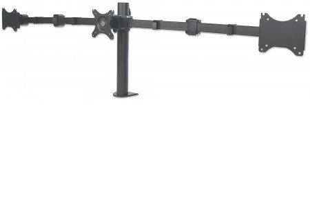 """Soportes para PC Manhattan 461115 soporte para pantalla plana 76.2 cm (30"""") Broche Negro"""