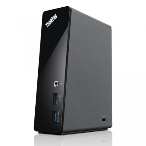 Lenovo 40AA0045US base para laptop o replicador de puertos Alámbrico USB 3.2 Gen 1 (3.1 Gen 1) Type-A Negro