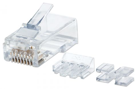 Adaptador para red Intellinet 790550 conector RJ45 Transparente