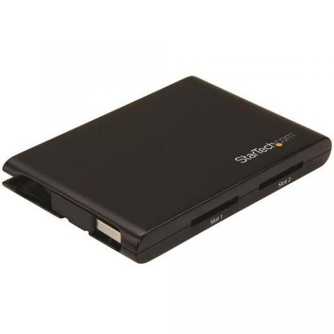 Lector de memoria StarTech.com Lector Grabador USB 3.0 de Tarjetas de Memoria Flash SD con Dos Ranuras - SD 4.0, UHS II