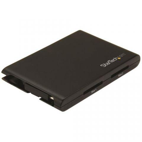 Lector de memoria StarTech.com Lector/Escritor de Tarjetas de Memoria SD con 2 Ranuras - USB 3.0 con Puerto USB-C - SD 4.0, UHS II