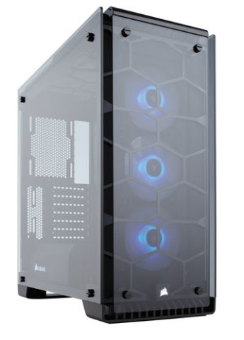 Gabinete Corsair Crystal 570X Midi Tower Negro, Transparente