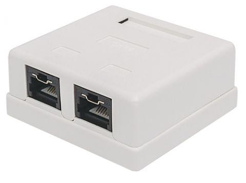 Accesorio Intellinet 771467 caja de conexiones de red Cat6 Blanco