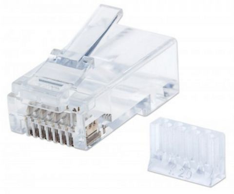 Adaptador para red Intellinet 790611 conector RJ-45 Transparente, Blanco