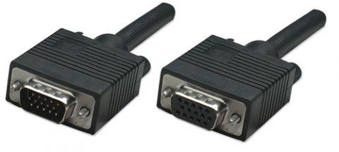 Cable VGA - Extension MANHATTAN - 4, 5 m, VGA (D-Sub), VGA (D-Sub), Macho/hembra, Negro 310345