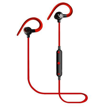 Accesorios para Electronica Vorago ESB-300 Auriculares Gancho de oreja Bluetooth Negro, Rojo